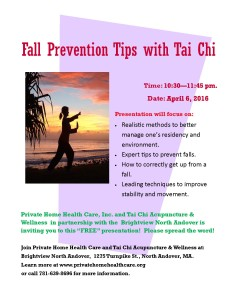 Fall Prevention with Tai Chi Flyer Brightview North Andover jpeg