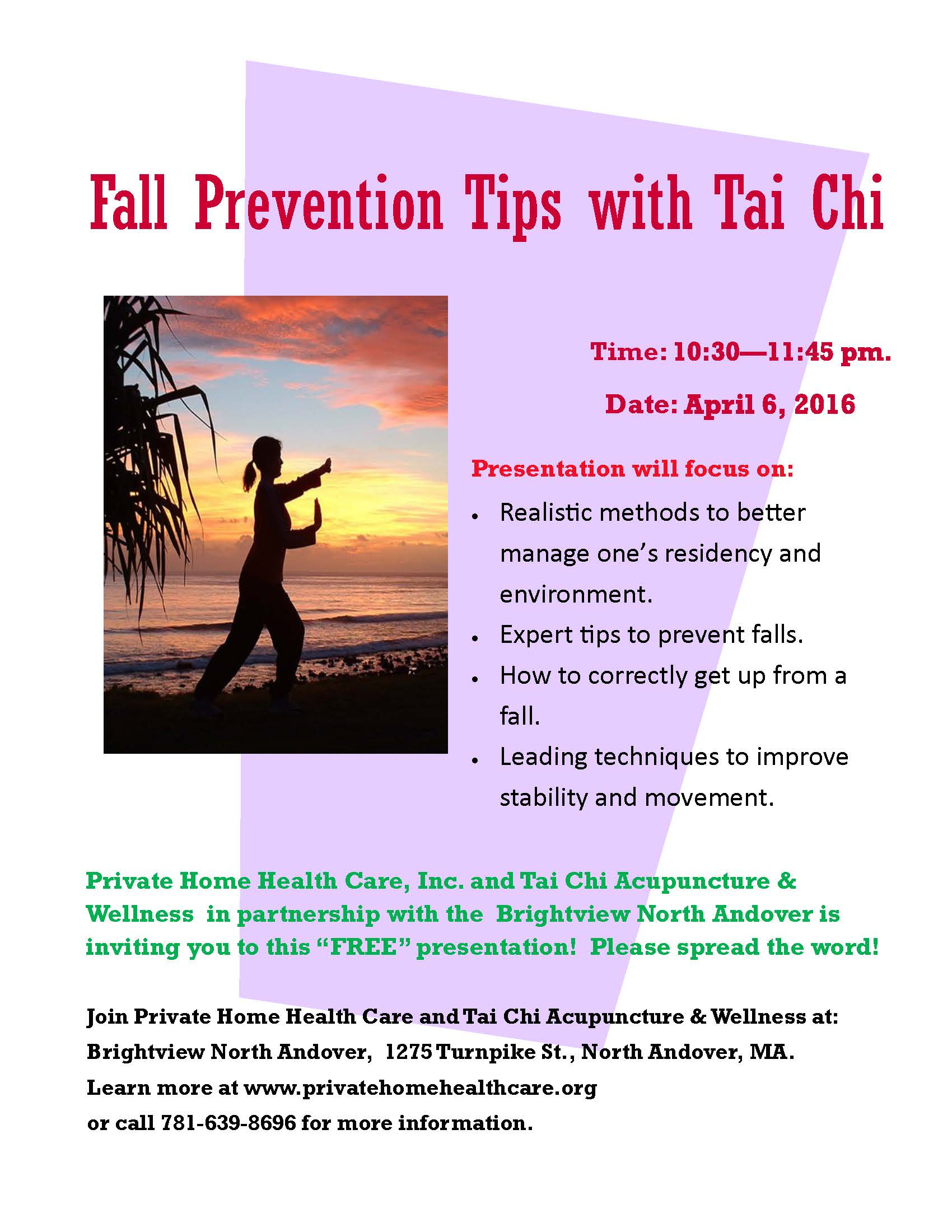 Fall Prevention And Improved Balance With Tai Chi Brightview