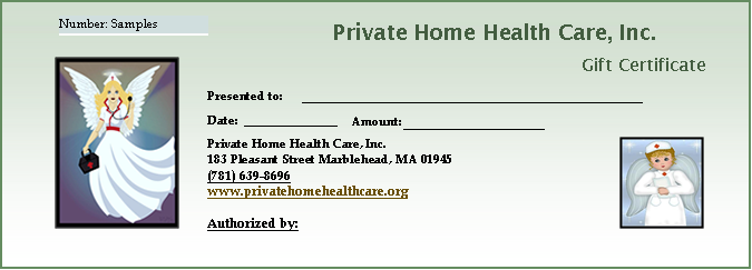 Gift Certificates - AAAAA Private Home Health Care AAAAA Private ...
